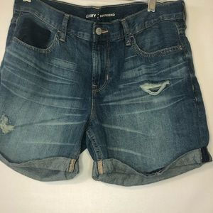 Old Navy Boyfriend Denim Shorts Distressed Size 4